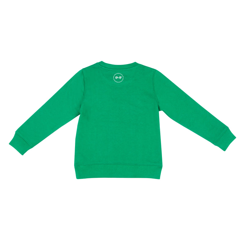 Kids Neon Eyes Sweatshirt - Green - The Kindness Co-Op Children's Clothing & Gifts