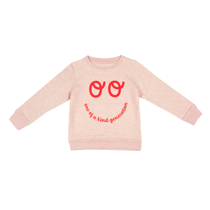 Kids Neon Eyes Sweatshirt - Pink