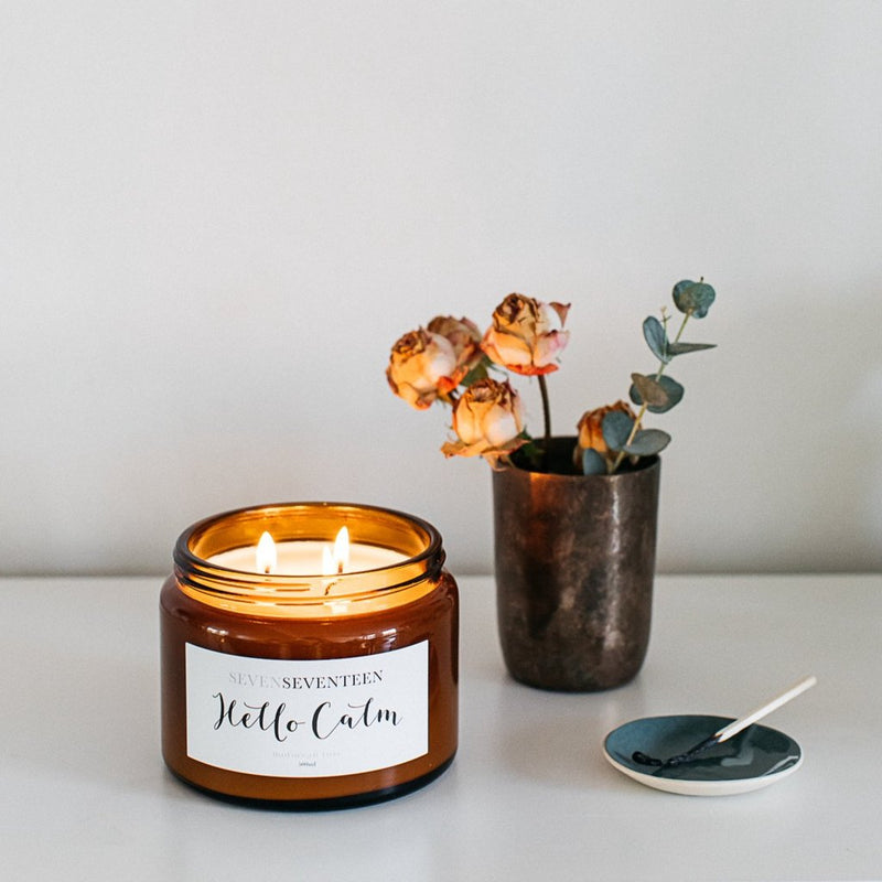 Hello Calm (Moroccan Rose) Candle by Sevenseventeen