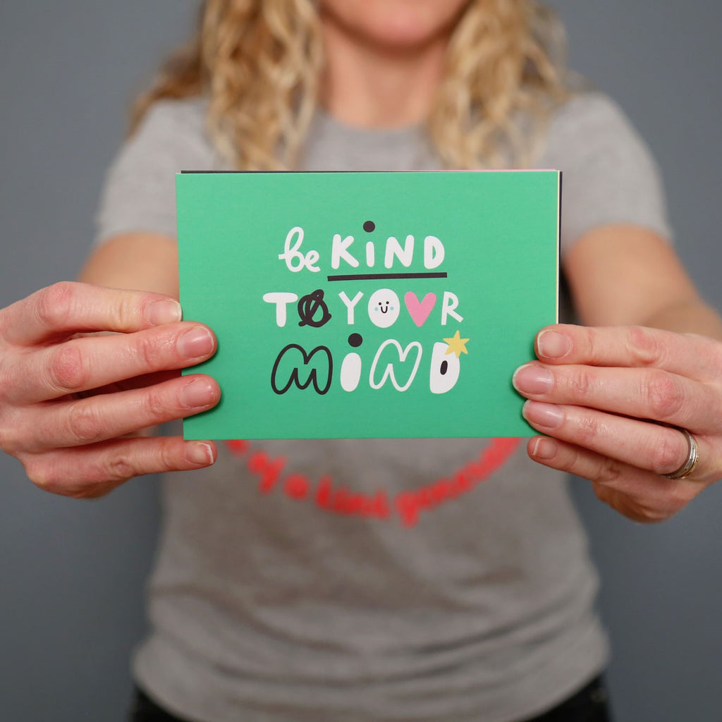 Be kind to your Mind postcard - The Kindness Co-Op Children's Clothing & Gifts