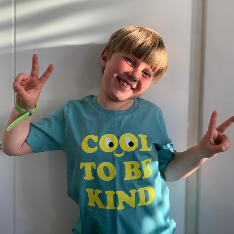 Kids Cool To Be Kind T-shirt - Teal