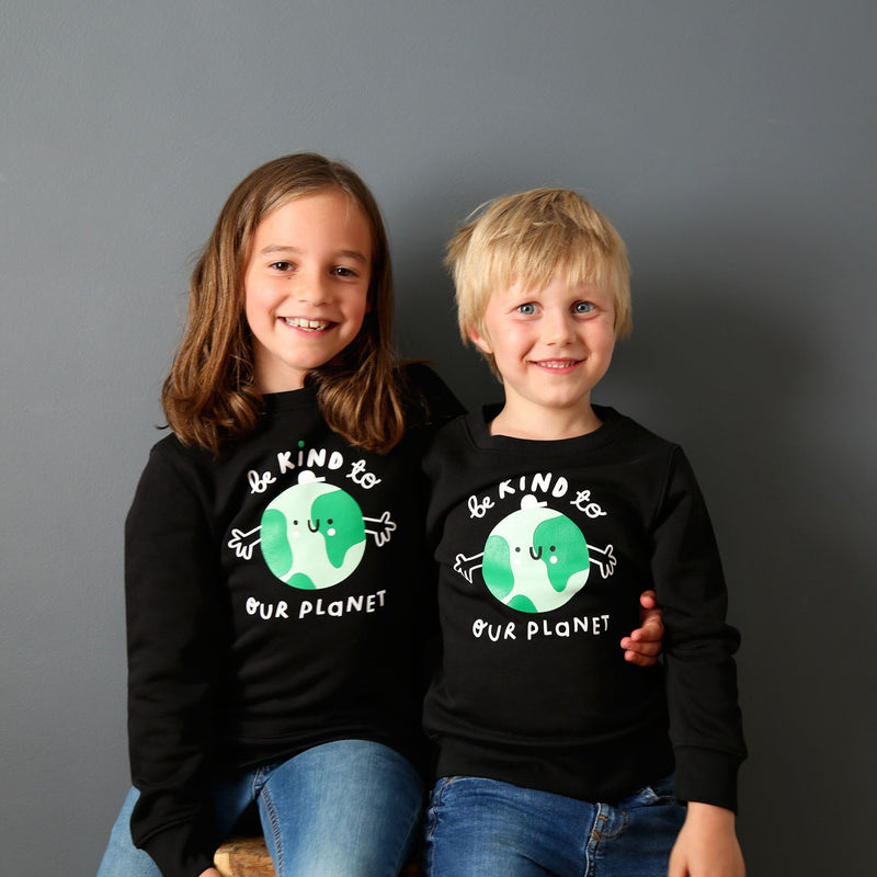 Kids Earth Sweatshirt - Black - The Kindness Co-Op Children's Clothing & Gifts