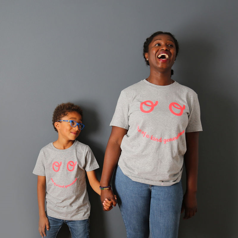 Adults Neon Eyes T-shirt - Grey - The Kindness Co-Op Children's Clothing & Gifts