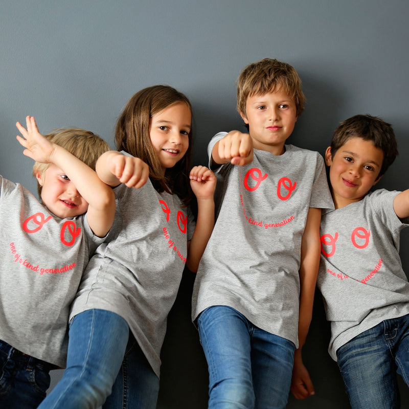 Kids Neon Eyes T-shirt - Grey - The Kindness Co-Op Children's Clothing & Gifts