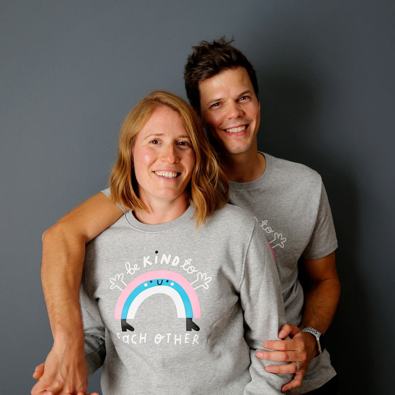Adults Rainbow Sweatshirt - Grey - The Kindness Co-Op Children's Clothing & Gifts