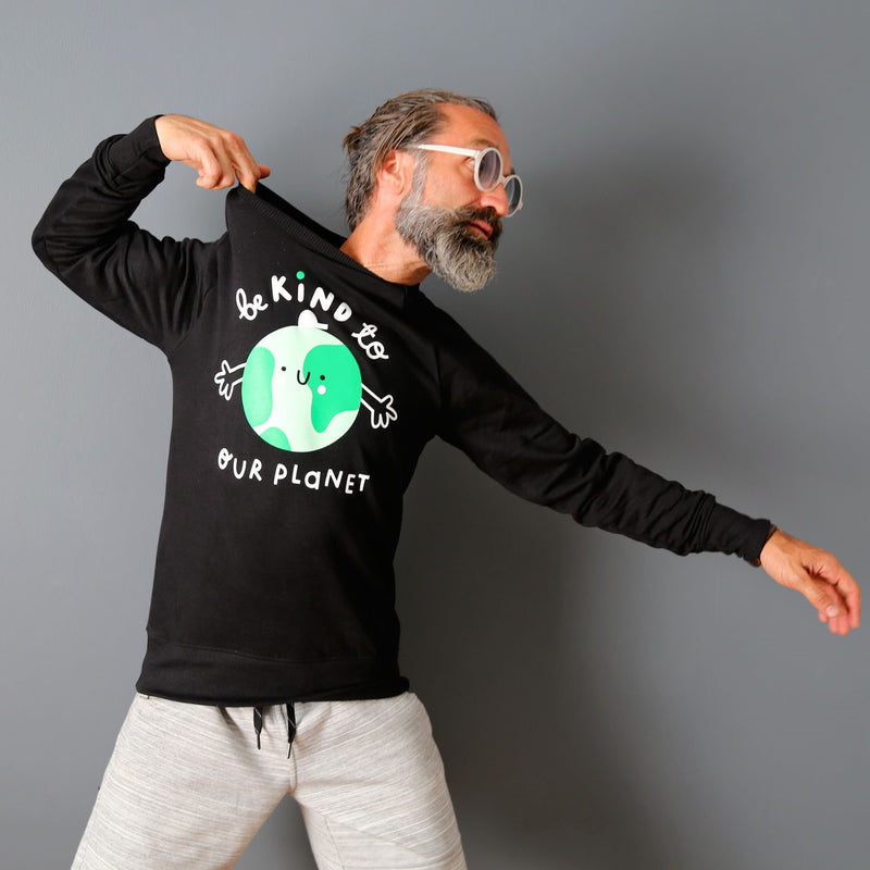 Adults Earth Sweatshirt - Black - The Kindness Co-Op Children's Clothing & Gifts