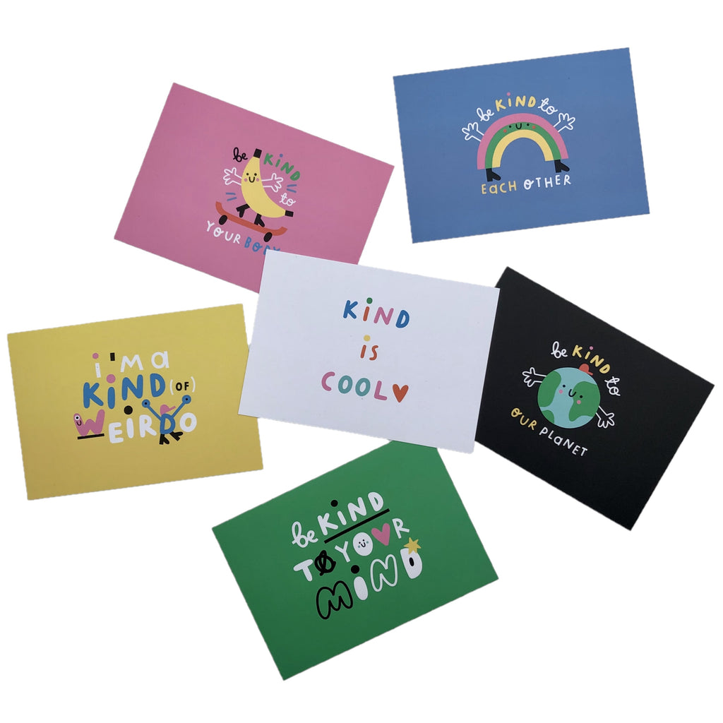 Pack of 6 Kindness postcards