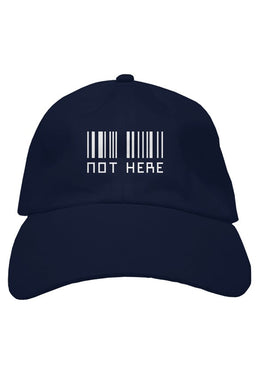 Not Here Black Dad Hat - dankmemesgang