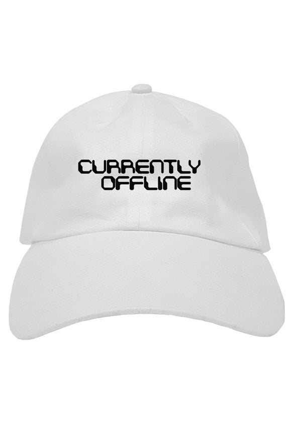 Currently Offline White Dad Hat - dankmemesgang