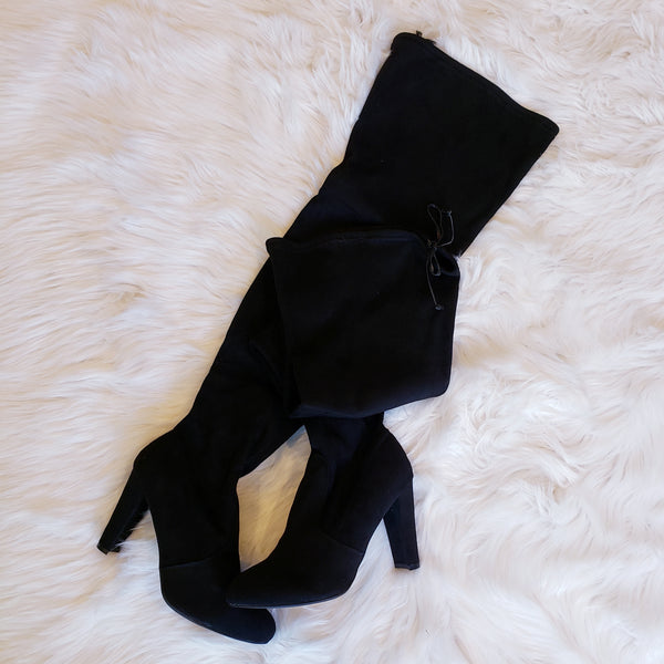 Diva thigh high black boots - Boutique121