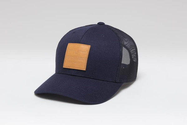 Impressed leather patch Cap - Boutique121