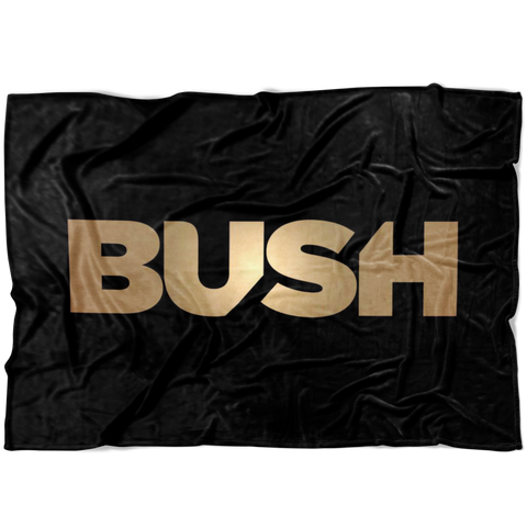 Gold Logo Black Fleece Blanket