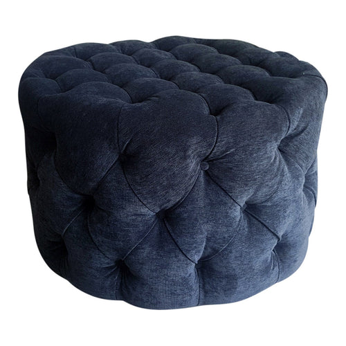 Round buttoned 600 ottoman