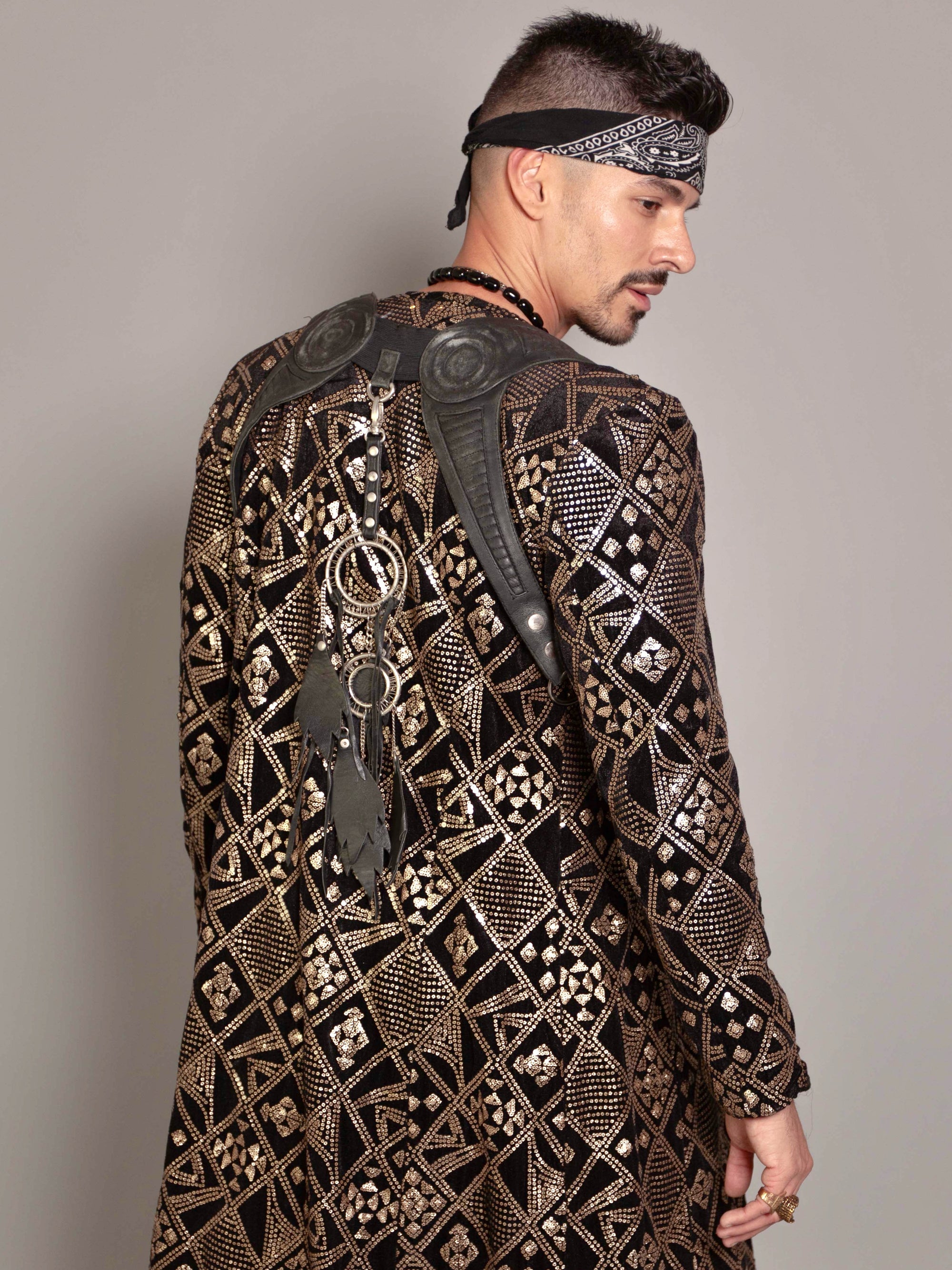'Fractal' long coat - Who Cares Why Not