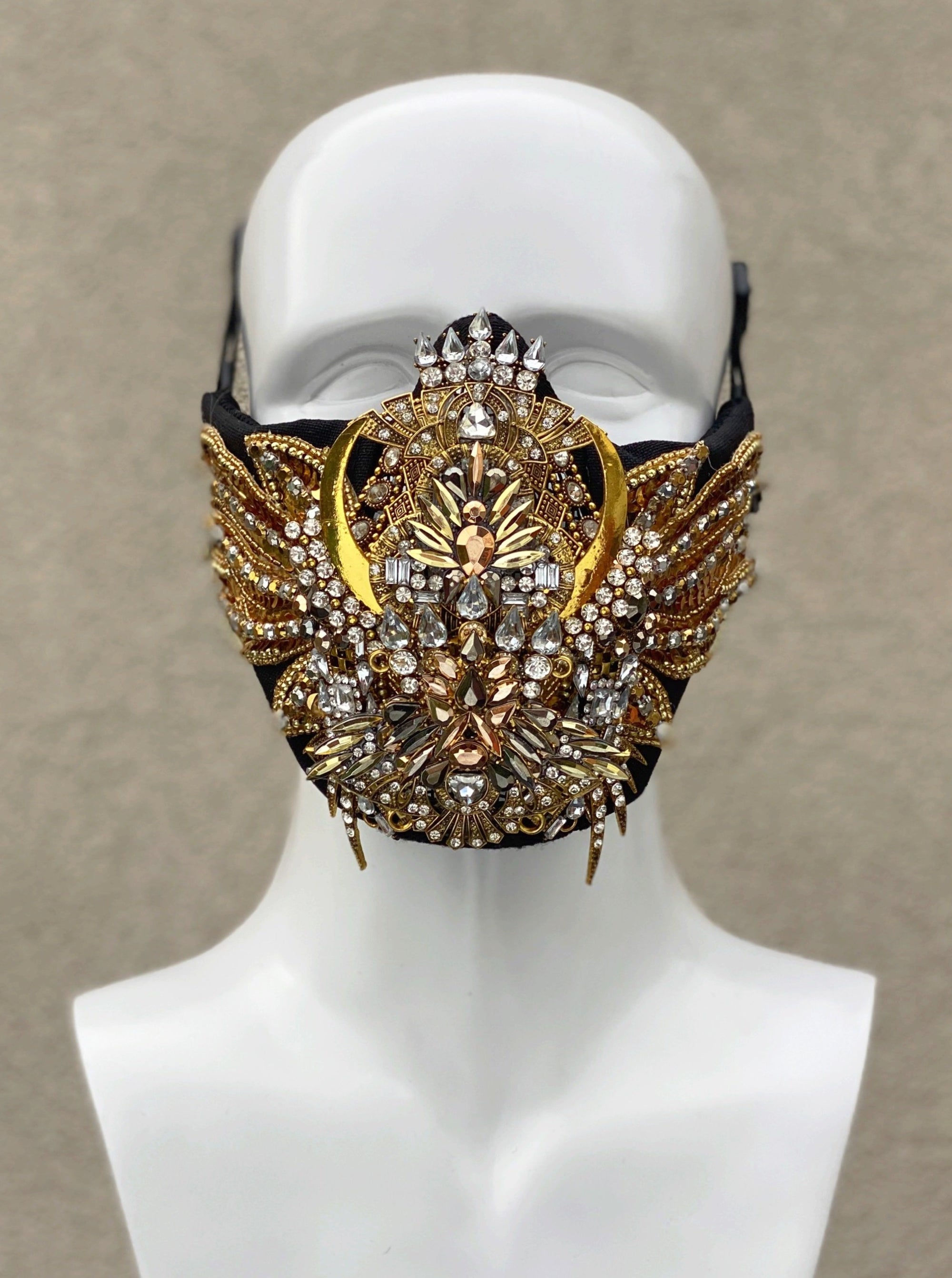 GOLDEN SCARAB face mask