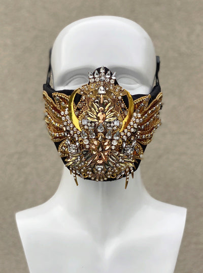 GOLDEN SCARAB face mask - Who Cares Why Not