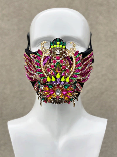 NEON SCARAB face mask - Who Cares Why Not