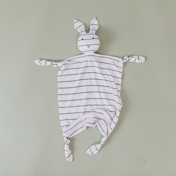 Bunny Comforter Toy | Bamboo Linen Stripe
