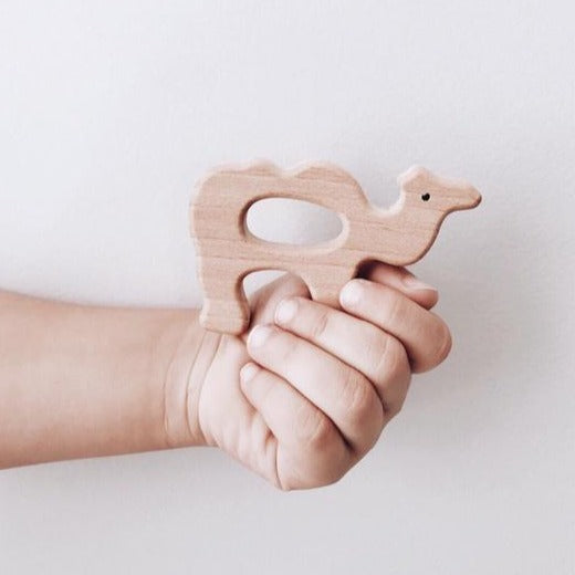 Beechwood Eco Teether | Camel