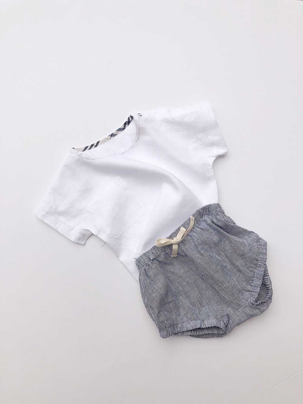 Blair Unisex Cotton Shorties | Pinstripe