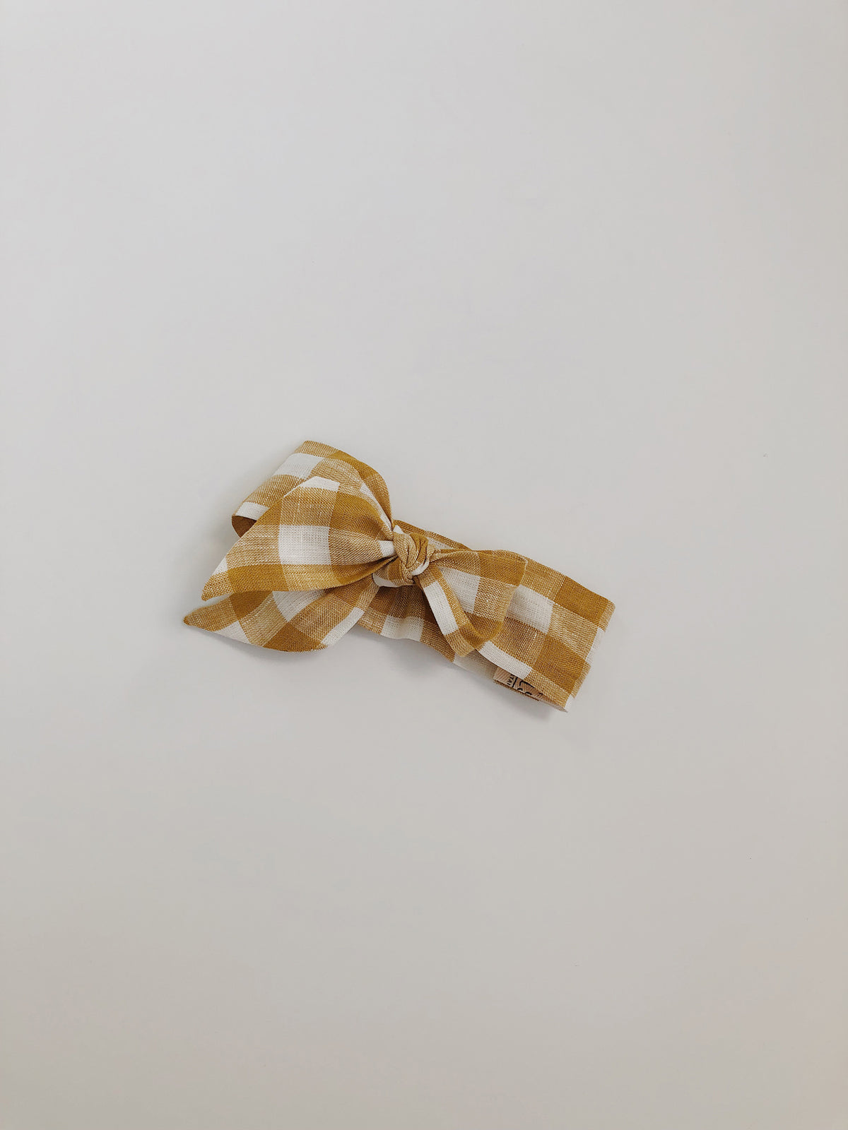 Topknot | Golden Gingham