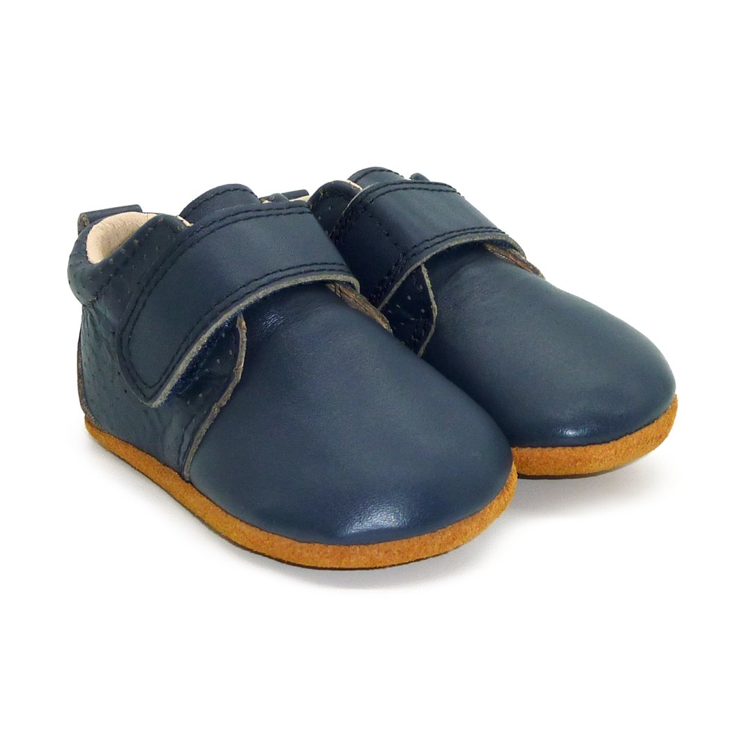 Storm Baby Boys Leather Shoes | Navy