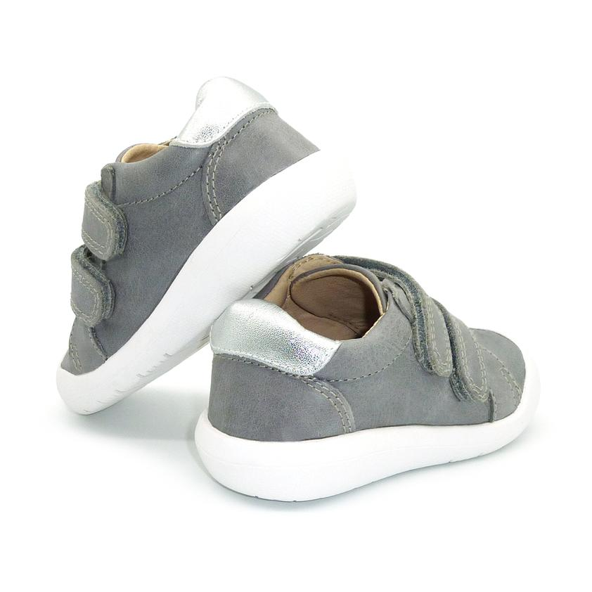 Jonny Unisex Leather Sneakers | Grey