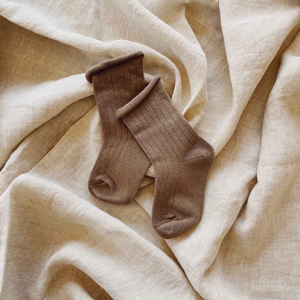 Cotton Rib Socks | Earth