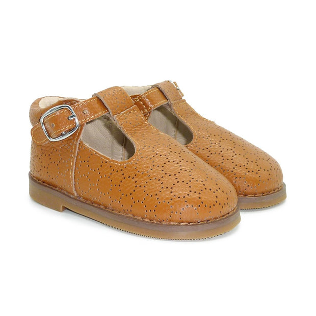 Milly Girls Leather Shoes | Chestnut