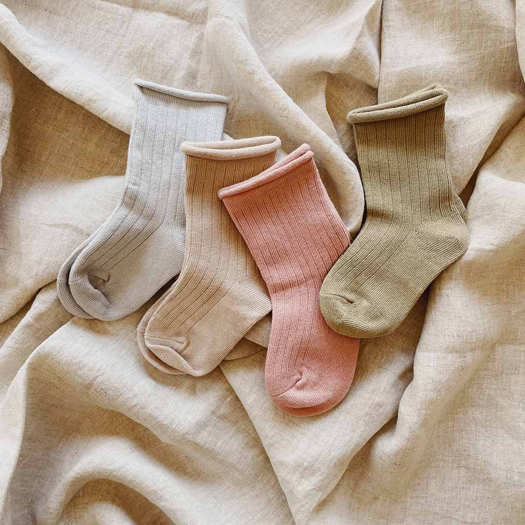 Cotton Rib Socks | Pastels