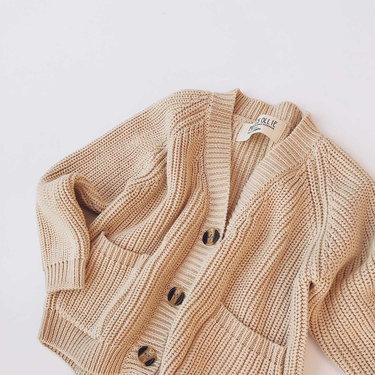 Shiloh Unisex Cotton Cardigan | Cream