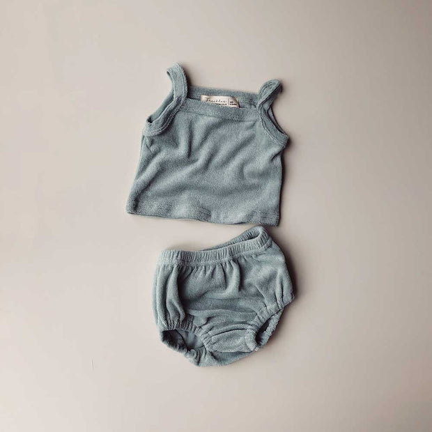 Terry Unisex Tank Sets | Seafoam
