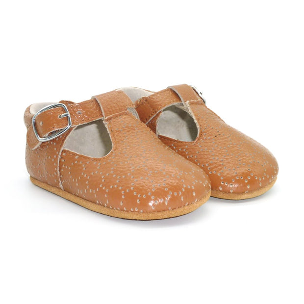 Milly Baby Girls Leather Shoes | Chestnut