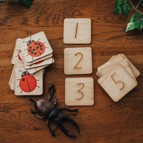 Lady Beetle Counting Puzzle Game | 24 Pieces