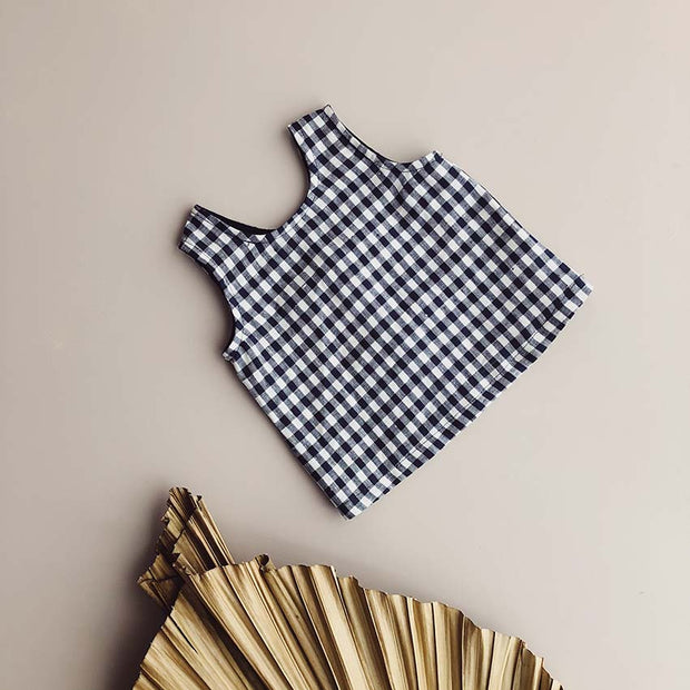 Parker Reversible Tank | Navy Gingham