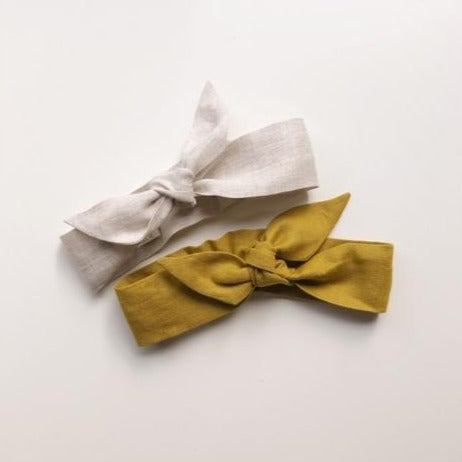 Linen Topknot Headband - Assorted Colours