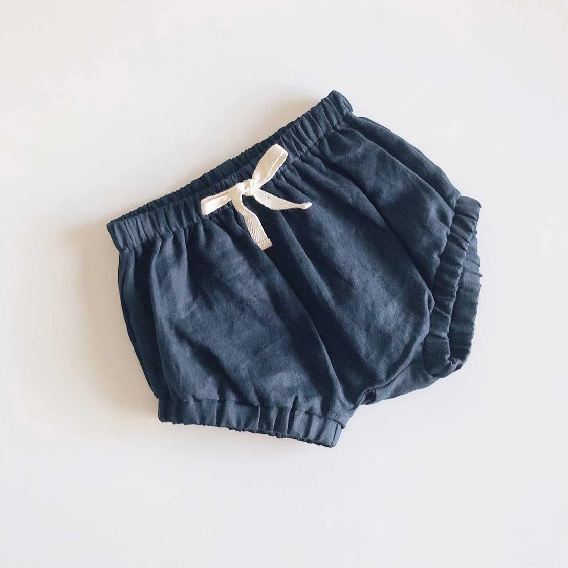 Blair Unisex Linen Shorties | Navy