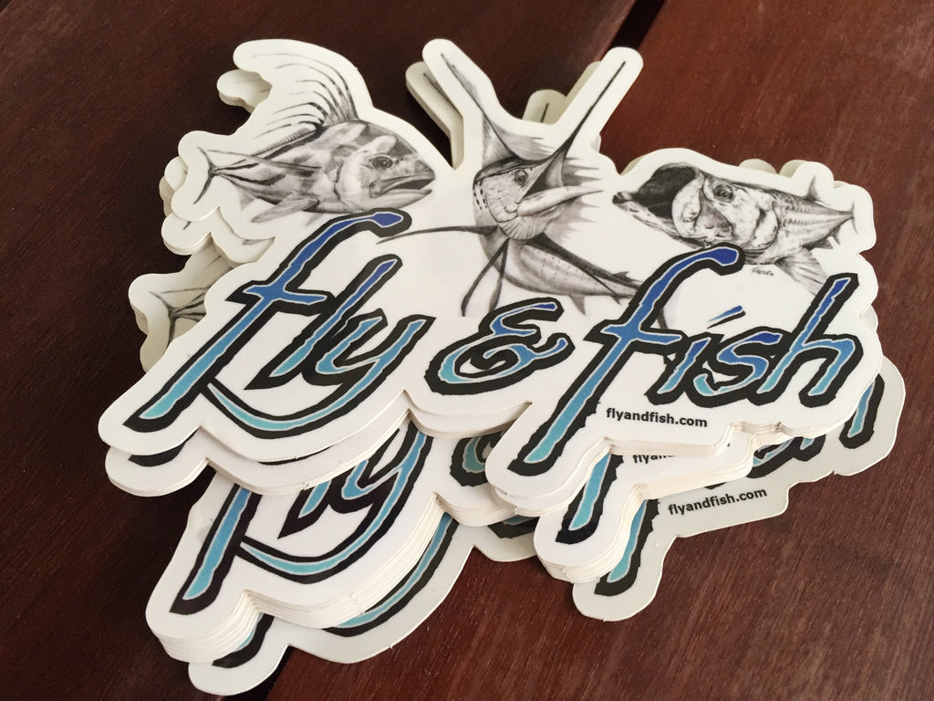 "Tarpon, Rooster fish and Sailfish sticker  The ""Pura Vida"" slam"