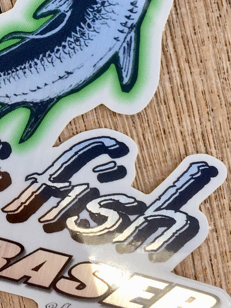 Going Airborne, Fly and Fish with Fraser, Brushed Alloy Tarpon Sticker
