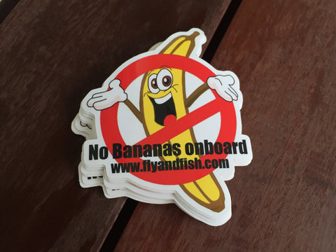 """No bananas"" on board sticker"