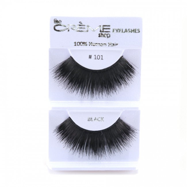 The Creme Shop 100% Human Hair Eyelashes #101 Wholesale - Cosmeticholic