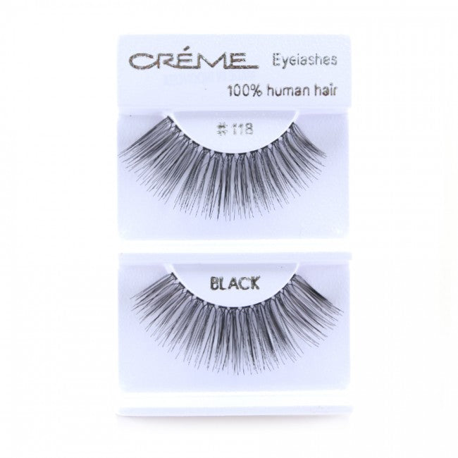 The Creme Shop 100% Human Hair Eyelashes #118 Wholesale - Cosmeticholic
