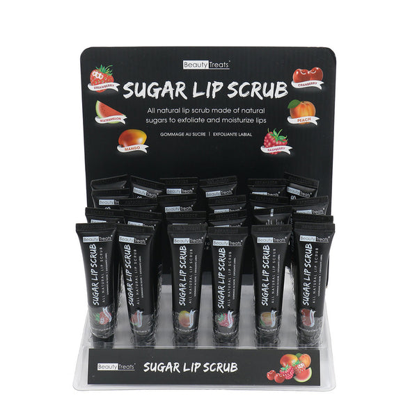 Beauty Treats Natural Sugar Lip Scrub #125 Strawberry, Watermelon, Mango, Cranberry, Peach, Raspberry, Cosmetic Wholesale - Cosmeticholic