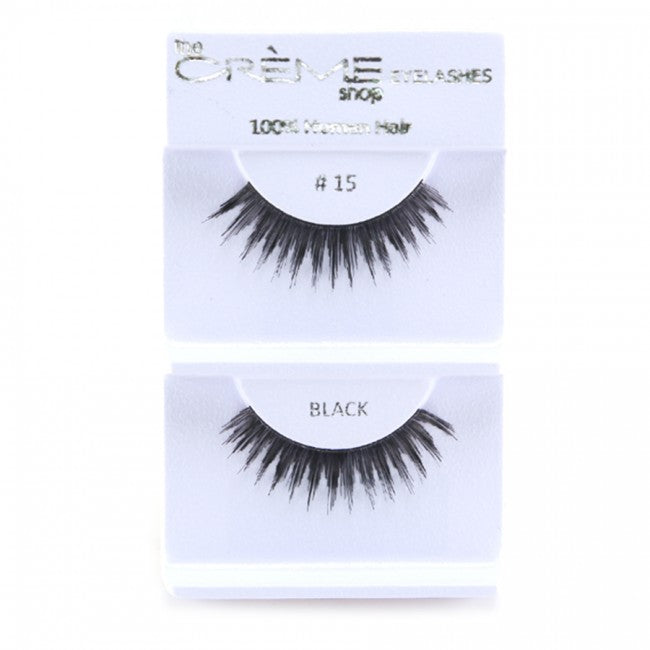 The Creme Shop 100% Human Hair Eyelashes #15 Wholesale - Cosmeticholic