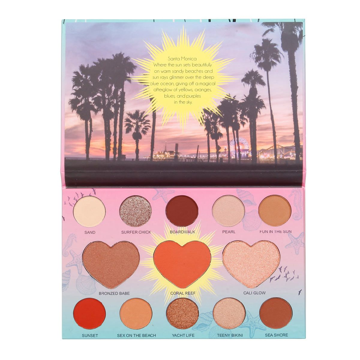 ITA2013-2 : LA Beauty Palette Beach Babe ( Santamonica ) 6 PC