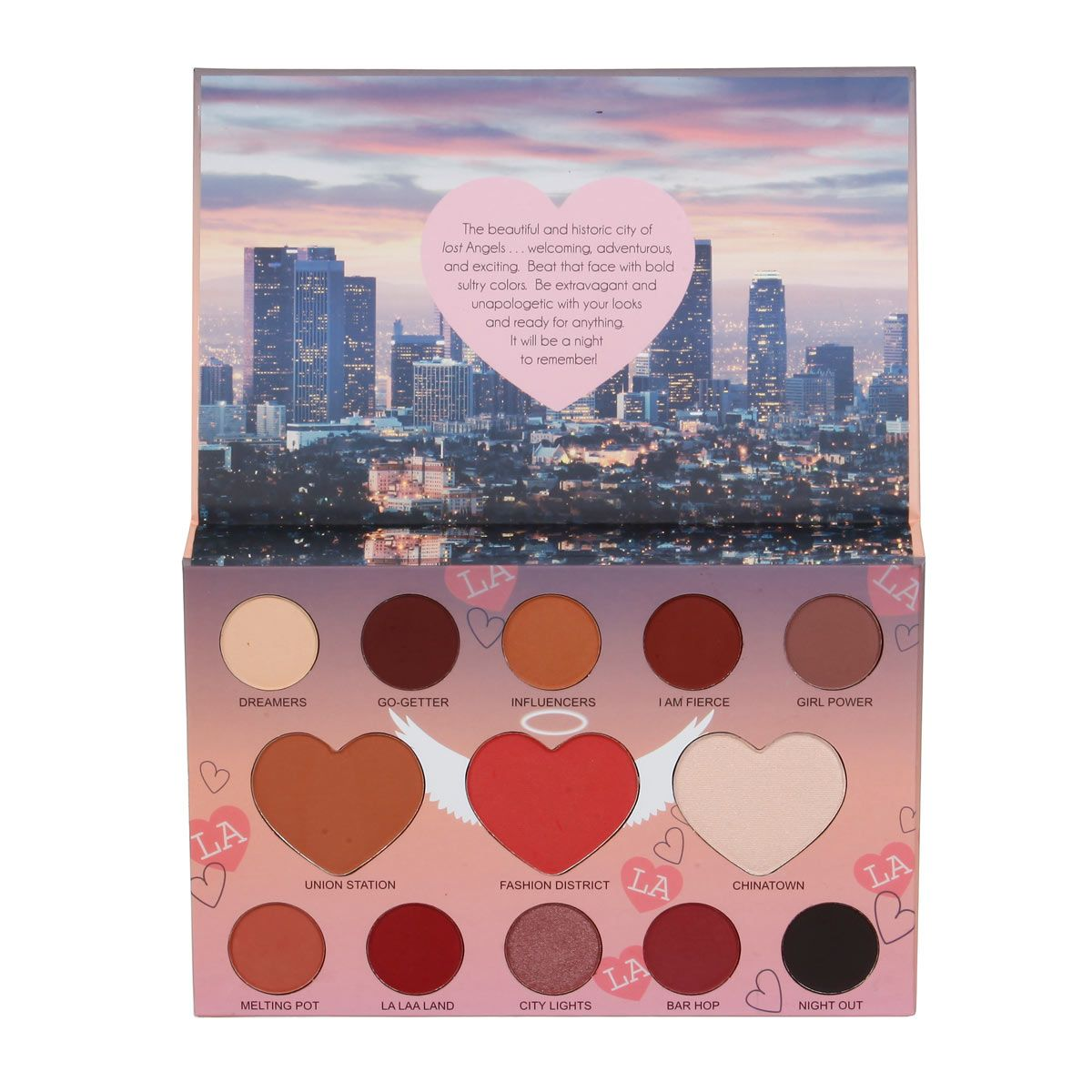 ITA2013-3 : LA Beauty Palette Angel Glam ( Downtown Los Angeles ) 6 PC