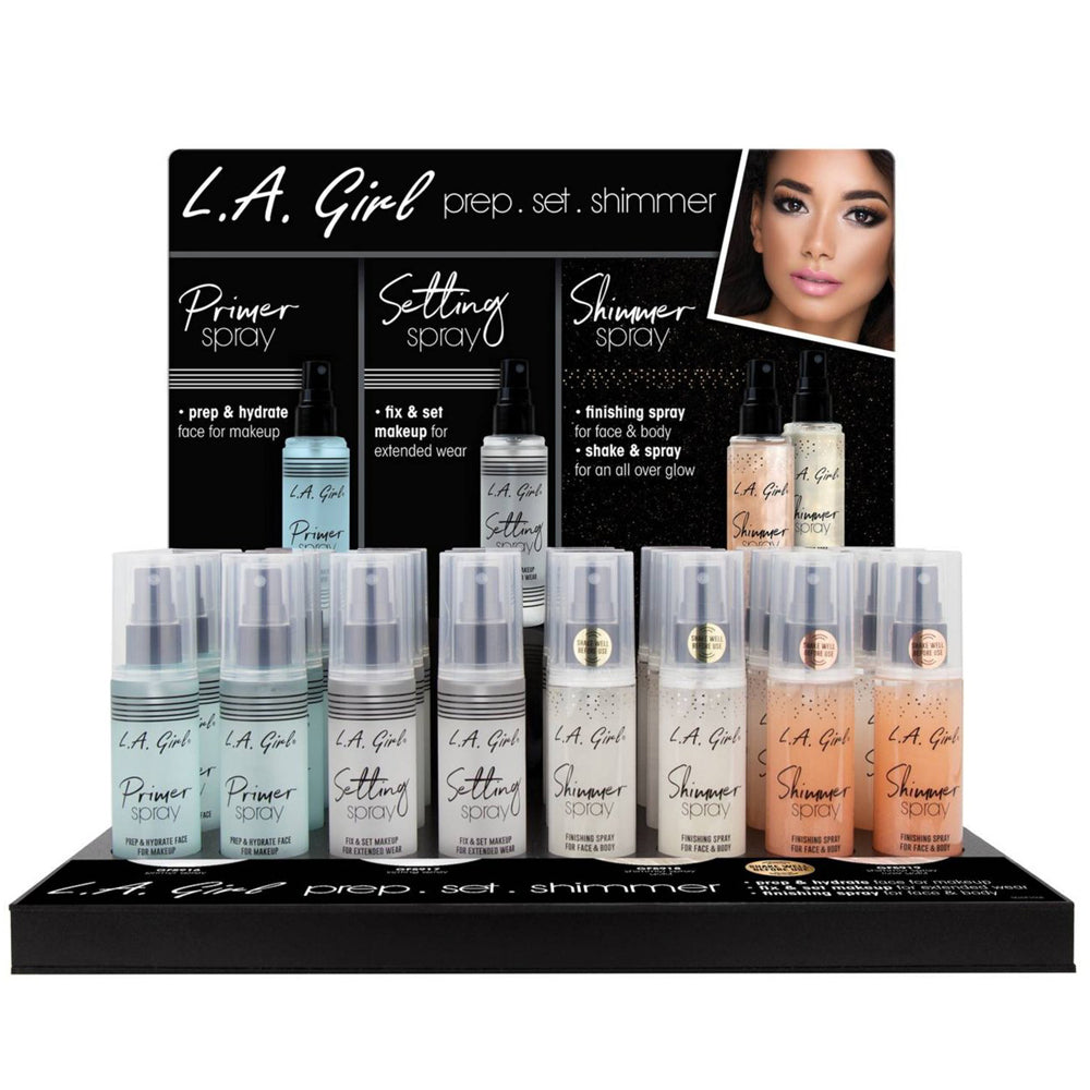 LAG-GPD356 : Prime Set & Shimmer Spray Display Set 24 PC Wholesale-Cosmeticholic