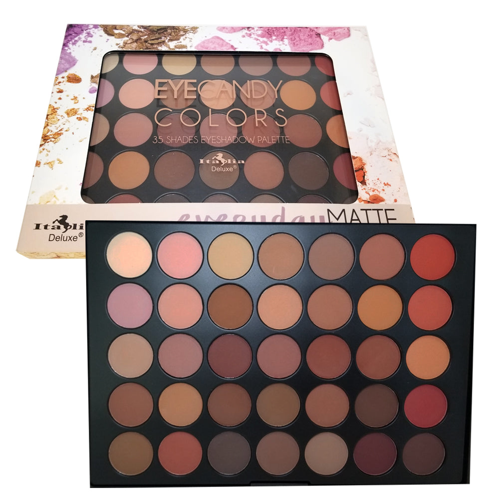 ITA2035-1 : Eyecandy Colors Everyday Matte 35 Color Eyeshadow Palette 6 PC