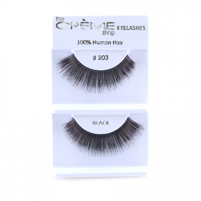 The Creme Shop 100% Human Hair Eyelashes #203 Wholesale - Cosmeticholic