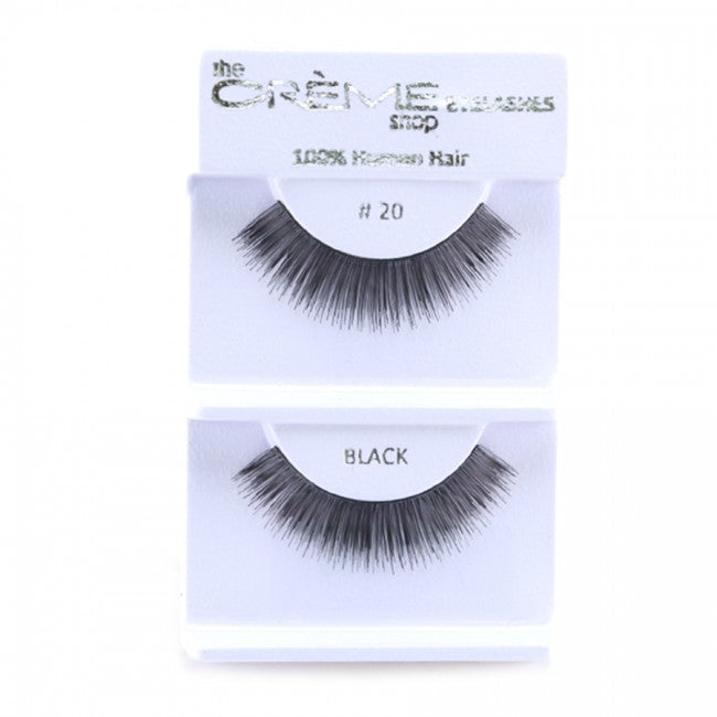 The Creme Shop 100% Human Hair Eyelashes #20 Wholesale - Cosmeticholic